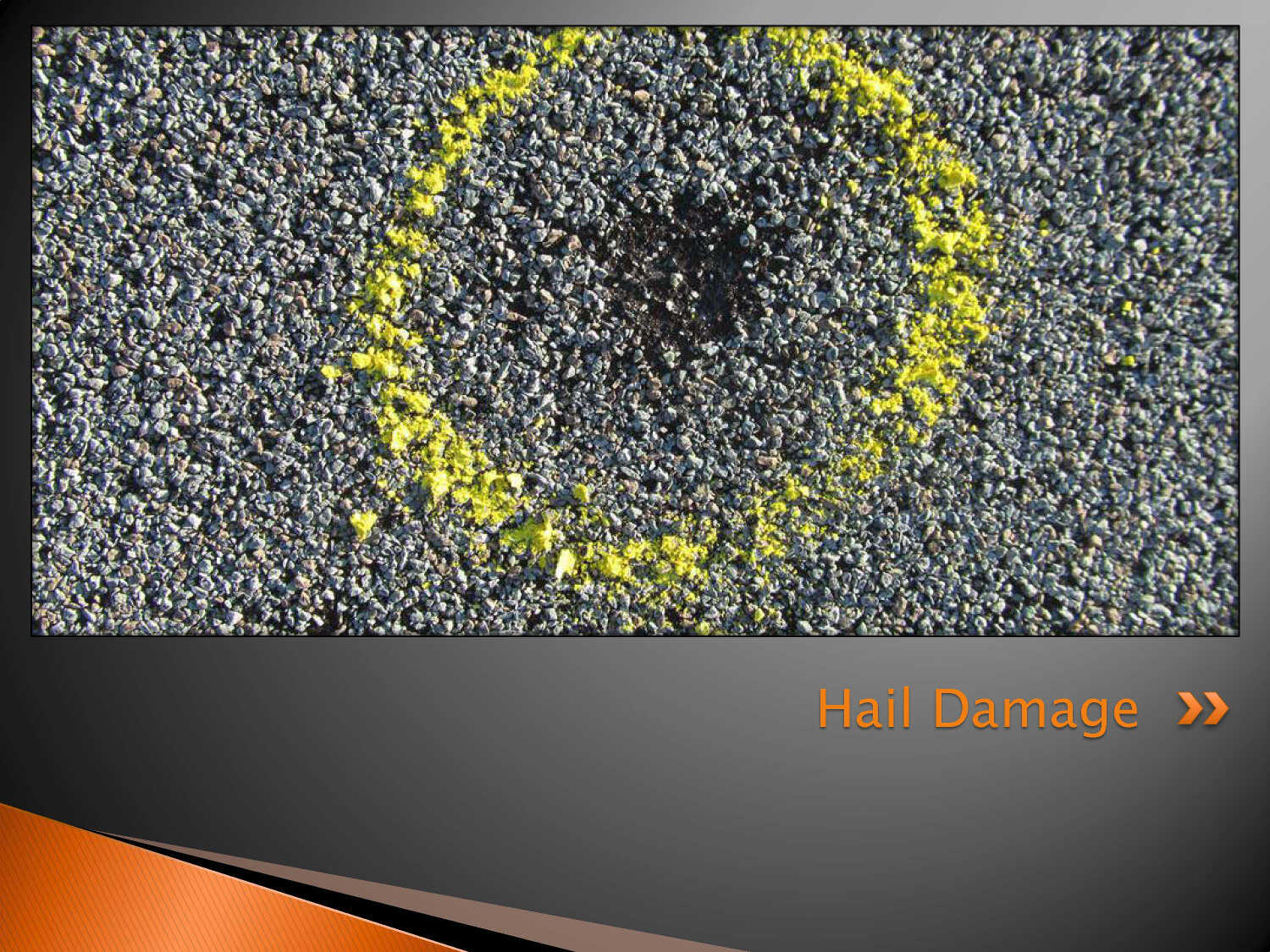 Hail Damage To Asphalt Shingles Aaa Roof Technologies